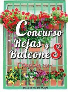 cartel del concurso de rejas y balcones de cordoba